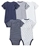 Moon and Back Baby Set Of 5 Organic Short-Sleeve