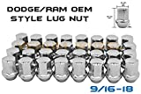 "20 Pc 9/16"" OEM Style Factory Lug Nuts 2002-2011 Dodge Ram 1500 
