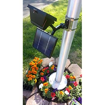 Amazon Com Commercial Solar Flagpole Light Outdoor