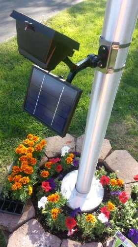 Led Solar Flagpole Light in US - 5