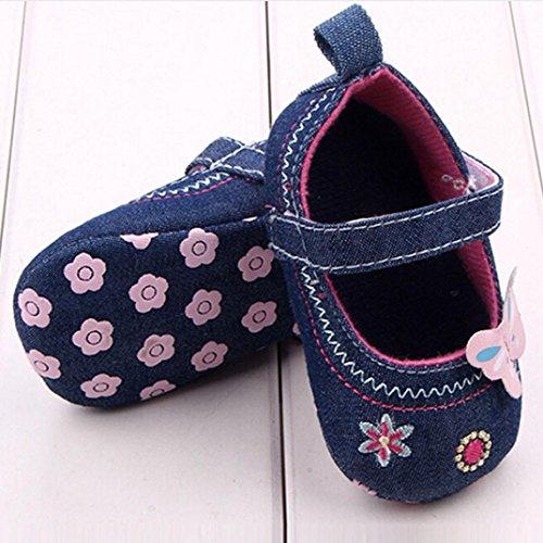 Omiky® Mode Baby Schuhe Schmetterling Soft Sole Kleinkind Schuhe Blau