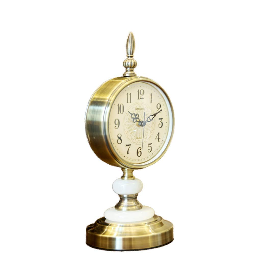 Amazon.com : LQUIDE Family Fireplace Clocks Jade Desk Clock, Retro n ú Watcher á rabes Quiet scan for Bedroom Living Room Suitable for Living Room Bedroom ...