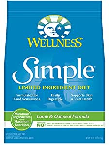 Wellness Simple Limited Ingredient Diet Lamb & Oatmeal Natural Dry Dog Food, 10.5-Pound Bag