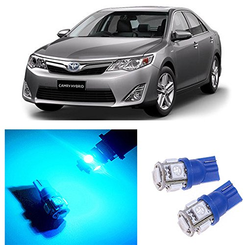 LED Monster - LED License Plate Lights Replacement Kit For 1983-2016 Toyota Camry - T10 Wedge 194 168 2825 W5W 175 6000K Ice Blue (00 Dodge Ram Wagon)
