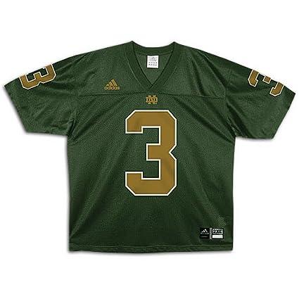 newest collection 2072c 010ce Amazon.com : adidas Notre Dame Fighting Irish #3 Green ...