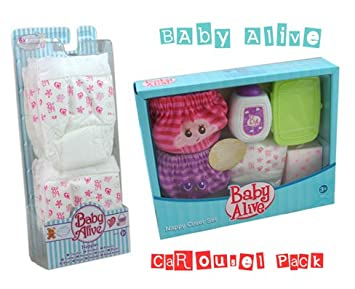 Baby Alive Nappies Set Nappy Cover Set Extra Nappies
