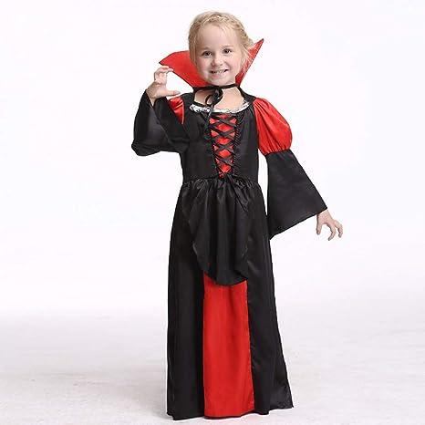 ERFD&GRF Disfraz de Reina de Vampiros para niñas, niños, condesa ...