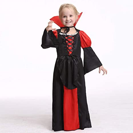 ERFD&GRF Disfraz de Reina Vampiro para Niños Niñas Halloween Dark ...