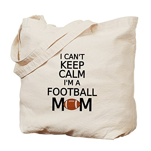 CafePress Tote Bag - I cant keep calm, I am a football mom Tote Bag by CafePress