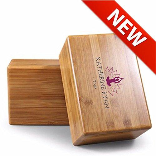 Premium Wooden Yoga Block | By Katherine Ryan Yoga | 9in x 6in x 3in | Deepen Poses, Improve Strength...  yoga block wooden | Hugger Mugger Wooden Yoga Block 51w5pts96sL