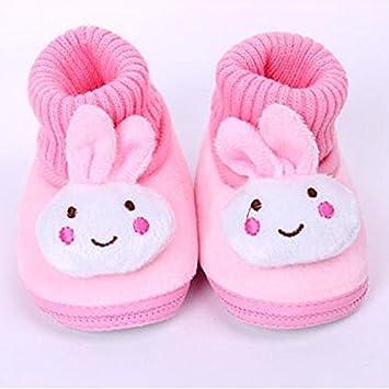 Somzie(TM) Cartoon Rabbit Baby Girl Shoes Soft Fleece Baby Moccasins Anti Slip Newborn