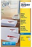 Avery 525 Etiquettes Autocollantes (21 par Feuille) - 63,5x38,1mm  - Impression Jet d'Encre - Blanc - J8160