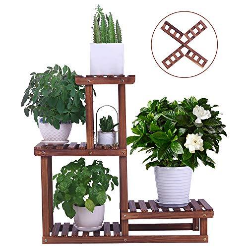 Wood Plant Stand Indoor