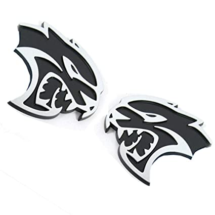 1 X HELLCAT Car Body Rear Side Emblem Badge Decal Fit For Dodge Charger SRT