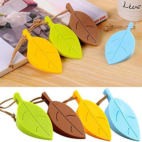 green Wikiwand Creative Leaf Silicone Door Stop Child Anti-pinch Security Door Card