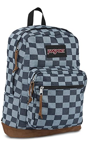 JanSport Right Pack Expressions 31L Backpack Blue Checker Denim, One Size