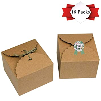 Amazon.com: GEMATE Pack de 16 cajas de kraft con cintas y ...