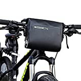 Allnice Bike Handlebar Bag Waterproof 3L Mountain Road MTB Bike Cycling Bicycle Top Tube Handlebar Bag Front Frame PVC Bag Roll Top Design Front Pannier Basket Bag