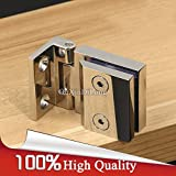 4PCS 304 Stainless Steel Cabinet Hinges Wine/Display Cabinet Glass Door Hinges Soft&Smoothly Glass Cabinet Hinges - (Color: Chrome)