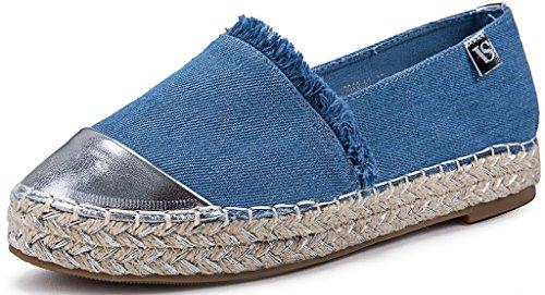 Scarpe Blau AgeeMi Mocassini Donna Shoes Espadrillas Donna On Loafer Tonda Slip Punta Hell w6wgzx7Y