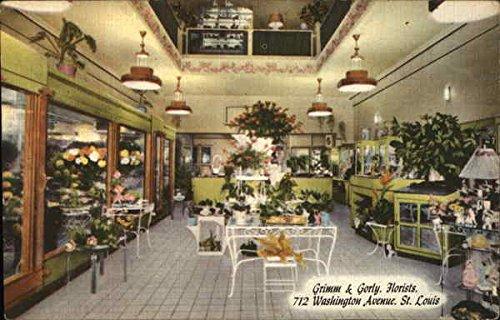 (Grimm & Gorly, Florists, 712 Washington Avenue, St. Louis St. Louis, Missouri Original Vintage Postcard)