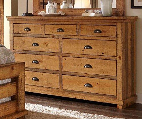 Progressive Furniture Willow Distressed Pine Drawer Dress...