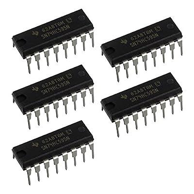 Addicore 74HC595 8-bit Shift Register w/ 3-State Output Registers in Antistatic Foam (5 pcs)