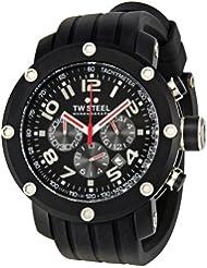 TW Steel Men's TW134 Grandeur Tech Black Rubber Strap Watch