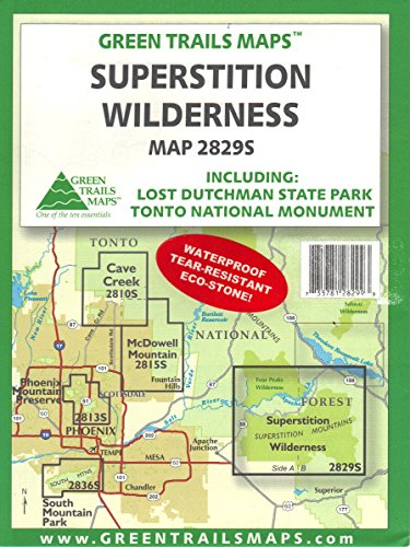 Superstition Wilderness: Including Lost Dutchman State Park and Tonto National Monument (2829S) Waterproof ()