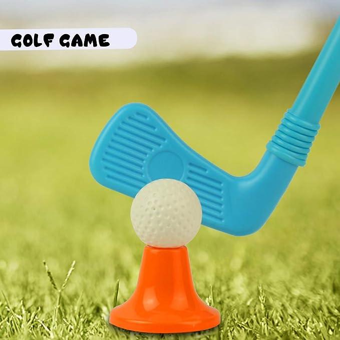 Juegos Aire Libre Mini Golf Trolley Juguete de Jardin Palos de Golf Regalo para Niños 3 4 5 6 Edades Consta de 12 Piezas