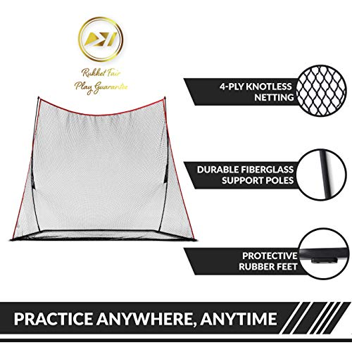 Rukket 10x7ft Haack Golf Net | Practice Driving Indoor and Outdoor | Golfing at Home Swing Training Aids | By SEC Coach Chris Haack by Rukket Sports (Image #4)