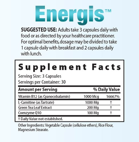 Energis Vitamin B12 Supplement for Energy … (90 Day Supply)