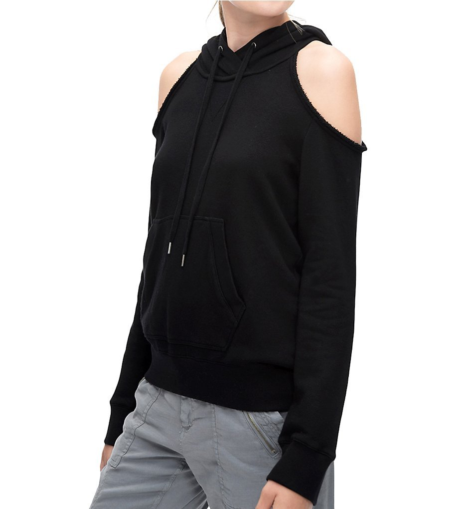 Splendid Women's Cold Shoulder Sweatshirt Black Sweatshirt