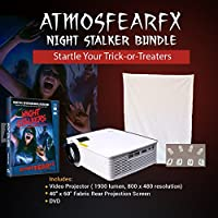 Amosfearfx Windowfx Night Stalkers Video Projector Bundle.includes Projector, Dvd and window projectio Screen.