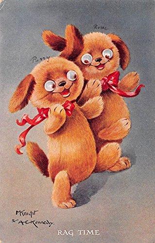 "Toy Bears Dancing ""Rag Time"" Artist Signed Antique Postcard J30070"