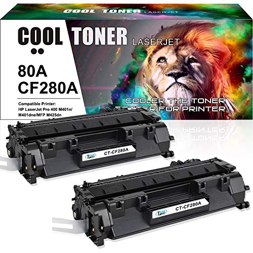 Cool Toner Compatible Toner Cartridge Replacement for HP 80A CF280A 80X CF280X for HP Laserjet Pro 400 M401A M401D M401N M401DN M401DNE M401DW, Laserjet Pro 400 MFP M425DN Laser Ink - Hp Laser Printer 400
