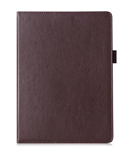 FYY Case iPad Air 2/iPad Air/iPad 9.7 2017/2018 - Premium PU Leather Case Smart Auto Wake/Sleep Cover Hand Strap, Card Slots, Pocket iPad Air 2/Air/iPad 9.7 2017/2018 Brown