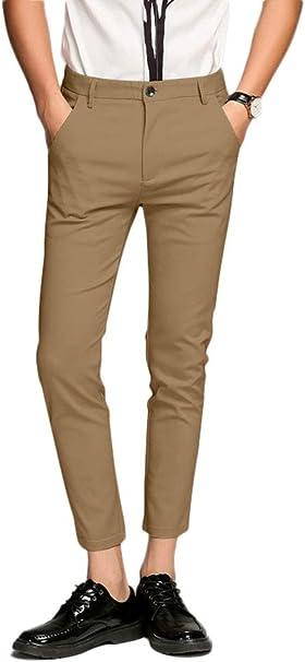 Plaid/&Plain Men/'s Stretch   Dress Pants