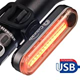 Ultra Bright Bike Safety Light - Colorday USB Rechargeable Waterproof Large Button Bicycle Tail Light - Easy to Install High Intensity Rear LED Accessories Fits on any Bikes, Helmets