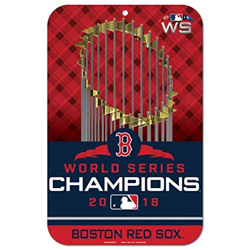 (Stockdale Boston Red Sox 2018 World Series Champions WC 11x17 Plastic Wall Parking Sign Baseball )
