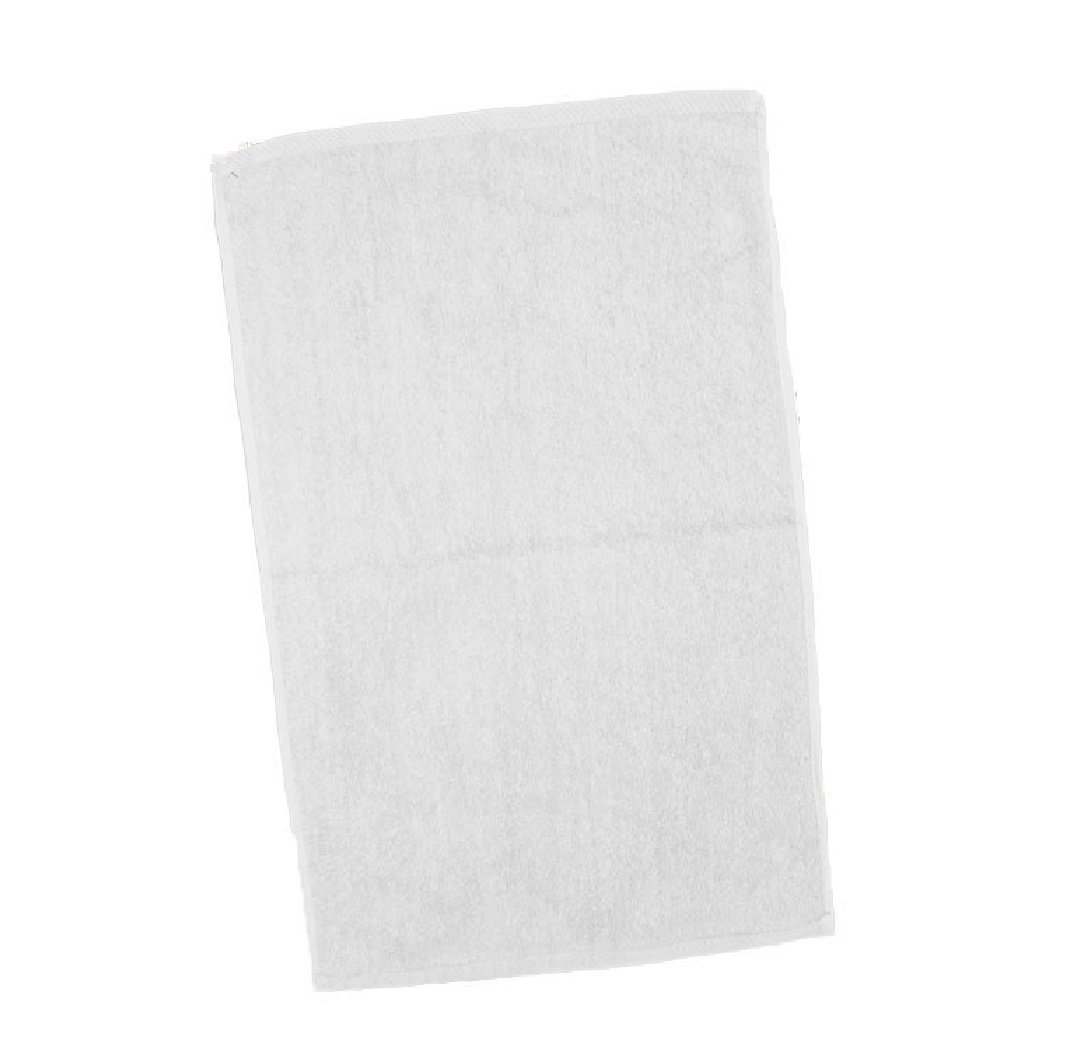 100 PACK Economical 100 % Cotton Towels - 11'' x 18'' (White)