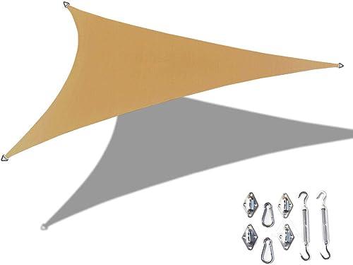 Alion Home Custom Right Triangle HDPE UV Block Sun Shade Sail Permeable Canopy