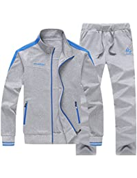 Men's Casual Jogging Full Zip Sports Jacket & Pants Tracksuit