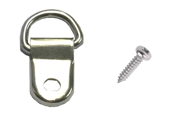 100 attaches à visser - 1 trou boucle en D, pour accroche dos du tableau/cadre picturehangingdirect.co.uk