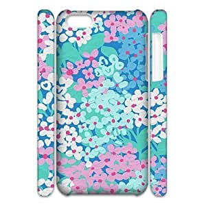 linJUN FENGCool Painting Blue Flowers Unique Design 3D Cover Case for iphone 6 4.7 inch,custom cover case case613283