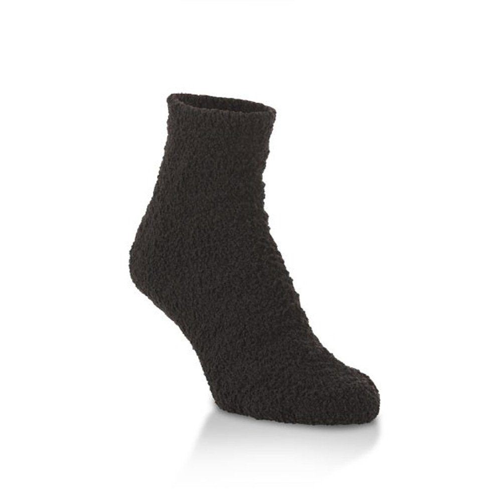 Ultra-Soft Knit Comfort Quarter Length Cozy Socks with Grippers World's Softest Socks W2441 69202 - S