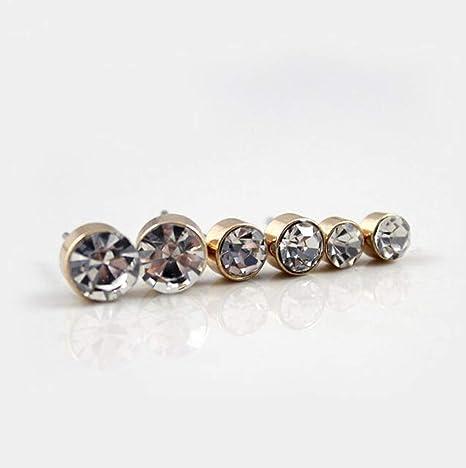 Scrox 12 Paires Boucles doreilles pour les femmes des oreilles romantiques petites plumes et strass brillent boule forme carr/é cadeau /él/égant bijoux damour