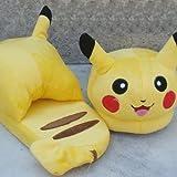 New Cute Pokemon Pikachu Soft Plush Slipper Stuffed Yellow Cartoon Toy Gift