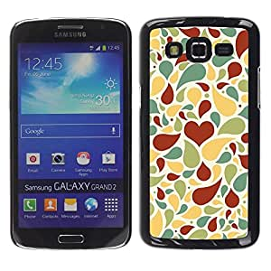 LECELL -- Funda protectora / Cubierta / Piel For Samsung Galaxy Grand 2 SM-G7102 SM-G7105 -- Love Heart Pattern --