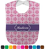 Linked Squares Baby Bib (Personalized)